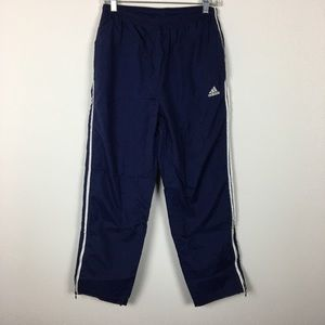 Adidas Windbreaker Pants With Stripes Navy White L